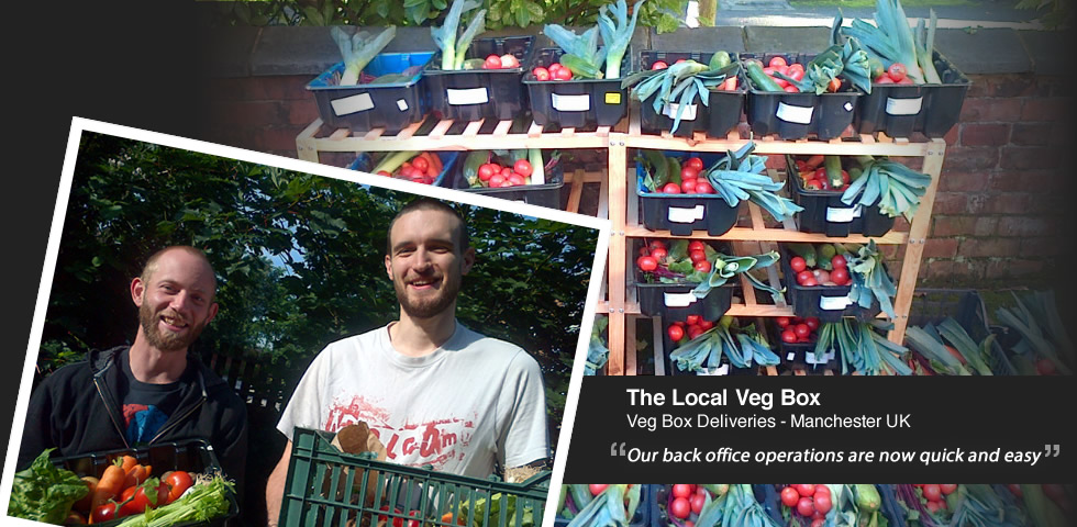 The back office administration is now quick and easy for the Local Veg Box, a UK vegetable box scheme
